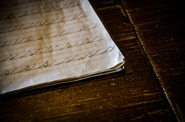 sešit na psaní