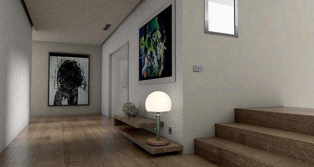 lampa na chodbě